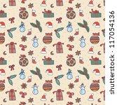 christmas seamless pattern | Shutterstock .eps vector #117054136