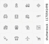 location line icon set with...   Shutterstock .eps vector #1170541498
