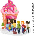 illustration of stickman family ... | Shutterstock .eps vector #1170550708