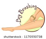 illustration of a woman dry... | Shutterstock .eps vector #1170550738
