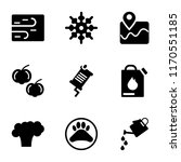 set of 9 simple icons such as... | Shutterstock .eps vector #1170551185