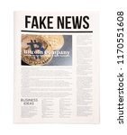 newspaper on white background | Shutterstock . vector #1170551608