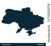 ukraine   europe countries map... | Shutterstock .eps vector #1170553378