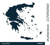 greece   europe countries map... | Shutterstock .eps vector #1170553465