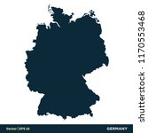 germany   europe countries map... | Shutterstock .eps vector #1170553468