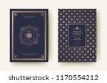 christmas greeting card design... | Shutterstock .eps vector #1170554212
