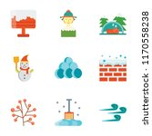 set of 9 simple icons such as... | Shutterstock .eps vector #1170558238