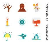 set of 9 simple icons such as... | Shutterstock .eps vector #1170558322