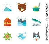 set of 9 simple icons such as... | Shutterstock .eps vector #1170558535