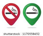 no smoking and smoking area... | Shutterstock .eps vector #1170558652