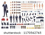 caucasian businessman or clerk... | Shutterstock .eps vector #1170562765