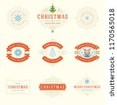 christmas labels and badges... | Shutterstock .eps vector #1170565018