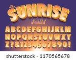 a vector alphabet in bright...   Shutterstock .eps vector #1170565678