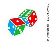 dice icon. two game dices ... | Shutterstock .eps vector #1170569482