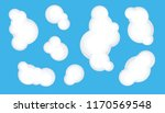 clouds set isolated on a blue... | Shutterstock .eps vector #1170569548