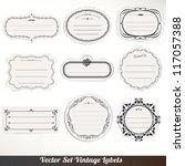 vector frame labels set... | Shutterstock .eps vector #117057388