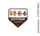 vintage autumn badge with... | Shutterstock .eps vector #1170576802