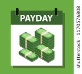 payday vector illustration with ... | Shutterstock .eps vector #1170576808