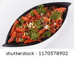 chilli potato or potato wedge... | Shutterstock . vector #1170578902