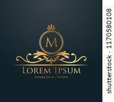 luxury logo template in vector... | Shutterstock .eps vector #1170580108