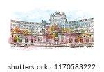 landmark building view of...   Shutterstock .eps vector #1170583222