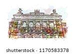 landmark building view of...   Shutterstock .eps vector #1170583378