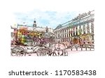 landmark building view of... | Shutterstock .eps vector #1170583438