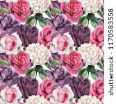 seamless floral pattern with... | Shutterstock . vector #1170583558