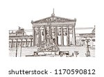 landmark building view of...   Shutterstock .eps vector #1170590812