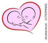 sleeping twins in the graphic... | Shutterstock .eps vector #1170599602