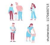 vector set of illustrations in... | Shutterstock .eps vector #1170600715