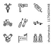 set of 9 simple icons such as... | Shutterstock .eps vector #1170603448