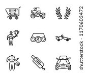 set of 9 simple icons such as... | Shutterstock .eps vector #1170603472
