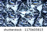 blue diamond dispersion 3d... | Shutterstock . vector #1170605815