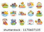 playground labels. aqua water... | Shutterstock .eps vector #1170607135