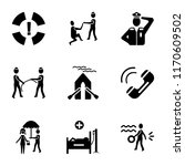 set of 9 simple icons such as... | Shutterstock .eps vector #1170609502