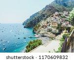 amalfi coast hiking sights. | Shutterstock . vector #1170609832
