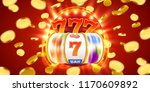 golden slot machine with flying ... | Shutterstock .eps vector #1170609892