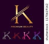 premium letter k monogram... | Shutterstock .eps vector #1170619162