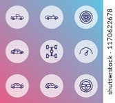 car icons line style set with... | Shutterstock .eps vector #1170622678