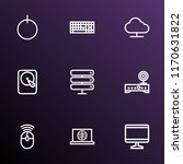 hardware icons line style set... | Shutterstock .eps vector #1170631822