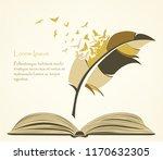 writing pen multicolored... | Shutterstock .eps vector #1170632305