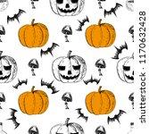 halloween  seamless pattern.... | Shutterstock .eps vector #1170632428