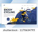 landing page template of enjoy... | Shutterstock .eps vector #1170634795