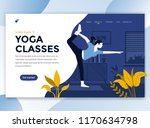 landing page template of yoga... | Shutterstock .eps vector #1170634798
