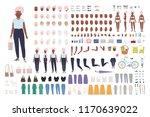 elegant old lady or granny... | Shutterstock .eps vector #1170639022