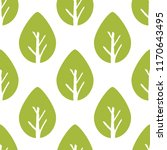 vector seamless foliage pattern.... | Shutterstock .eps vector #1170643495