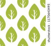 vector seamless foliage pattern.... | Shutterstock .eps vector #1170643495