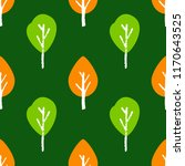 seamless tree pattern. hand... | Shutterstock .eps vector #1170643525