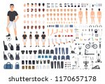 football or soccer player... | Shutterstock .eps vector #1170657178